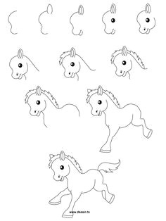 easy drawing steps learn how to draw a little pony with simple step