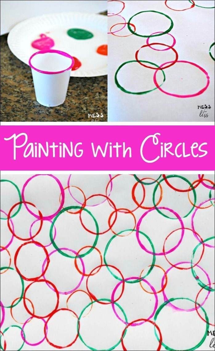your kids will be surprised when they see the eye catching art they can create when painting with circles