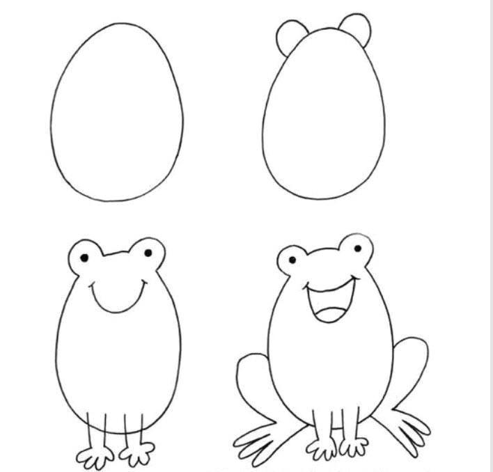 how to draw frog blue tadpole studio