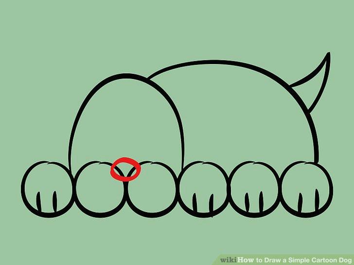 image titled draw a simple cartoon dog step 08