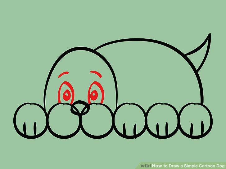 image titled draw a simple cartoon dog step 09