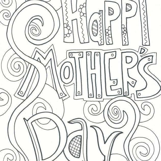 a coloring page that says happy mother s
