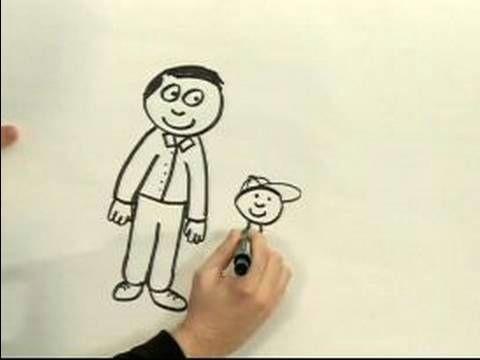 easy cartoon drawing how to draw a cartoon man