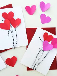 heart balloon cards for valentine s day 3 easy valentine s crafts that are easy for kids