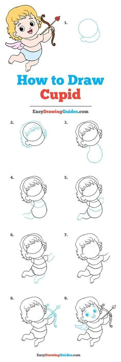 how to draw cupid really easy drawing tutorial
