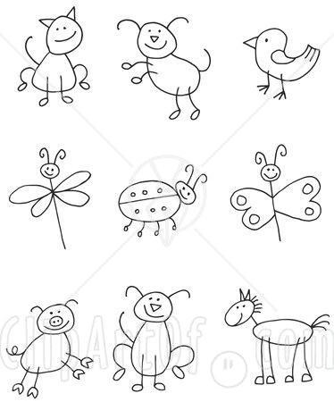 easy reference for drawing stick people and animals by the ot mommy