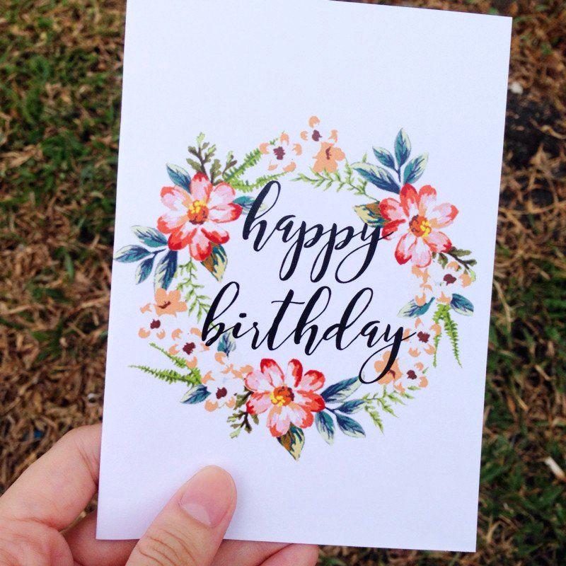 happy birthday card print