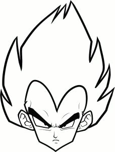 how to draw vegeta easy