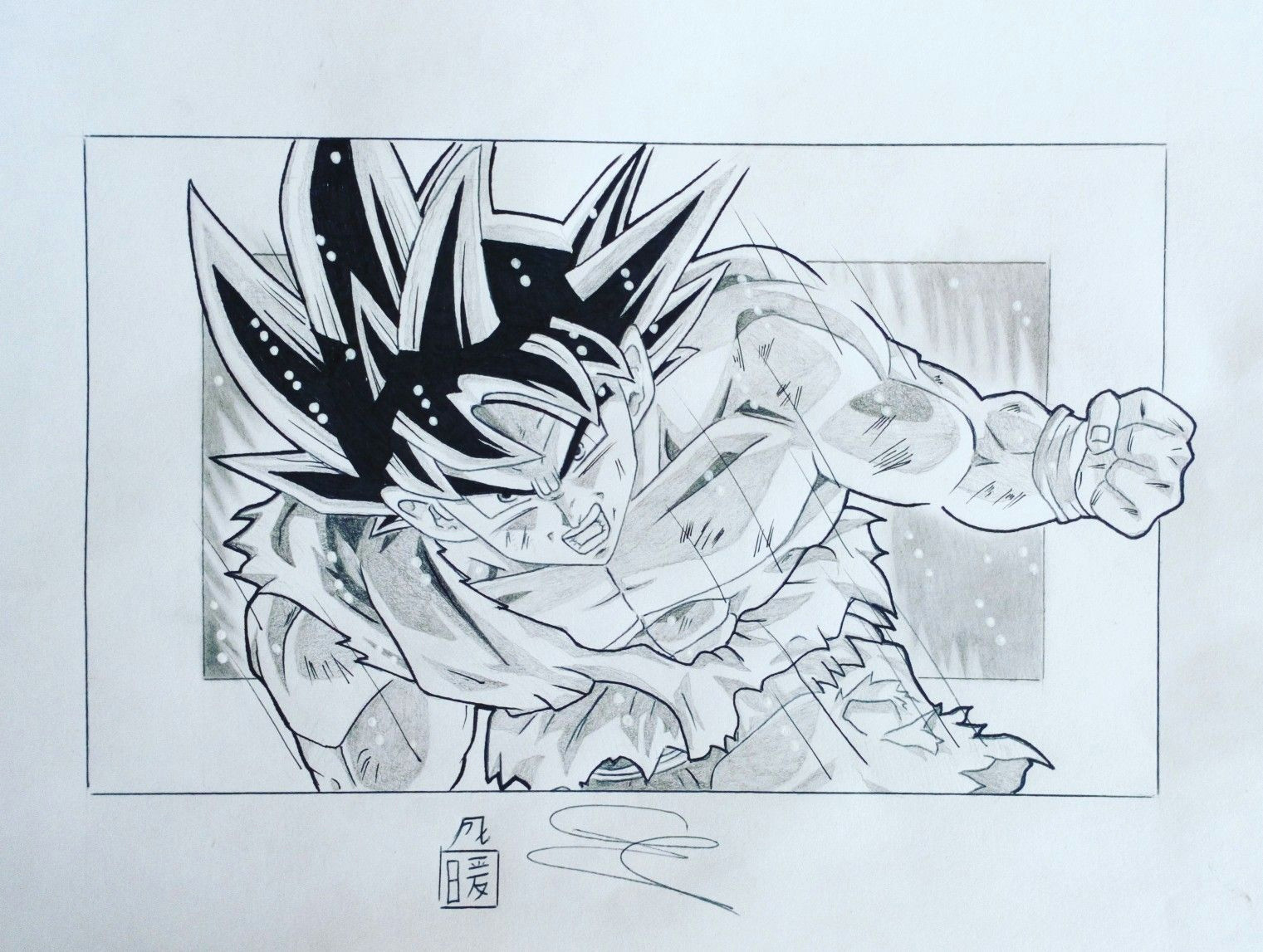 goku ultra instinct drawing