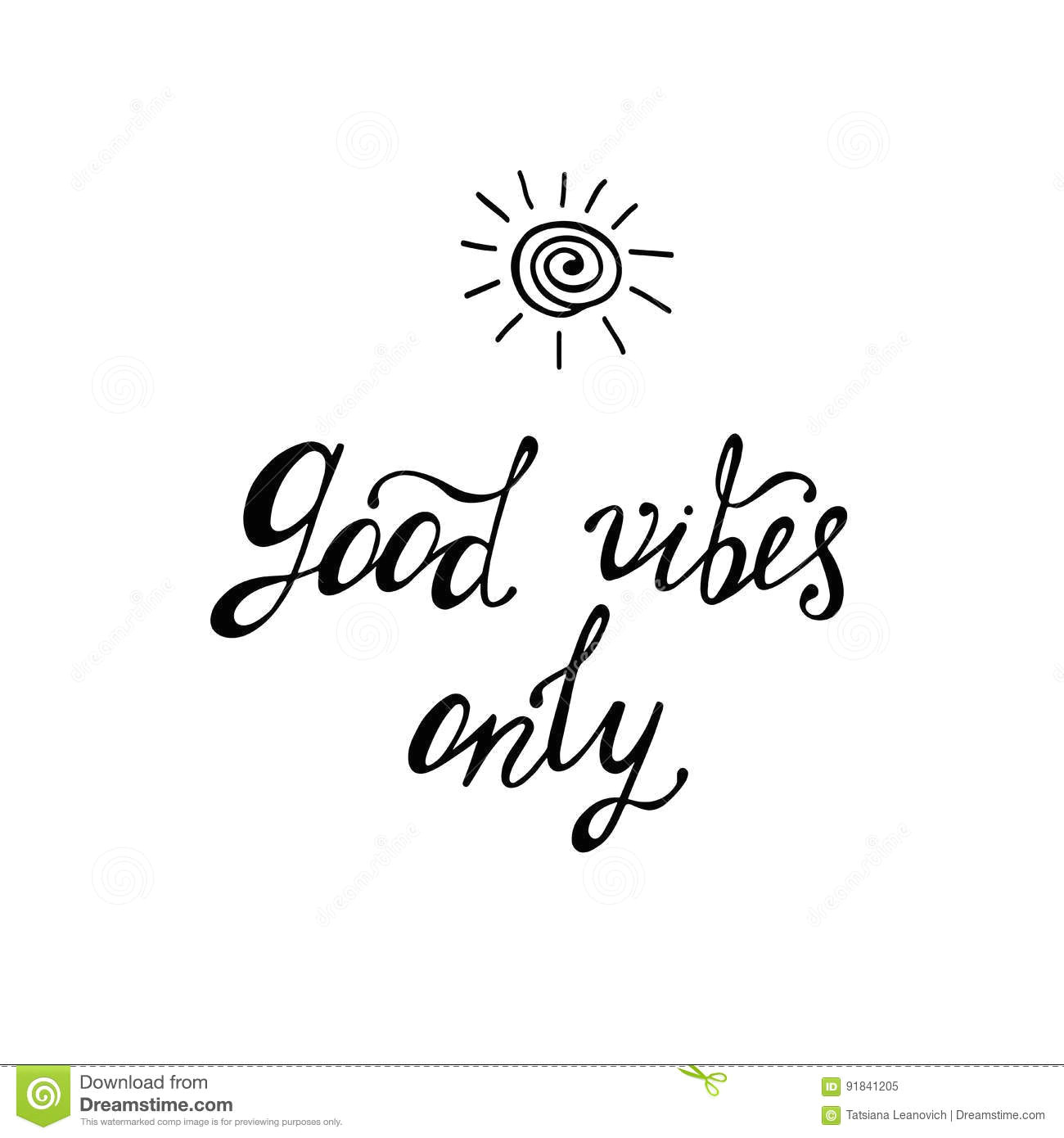good vibes only inspirational quote about happy