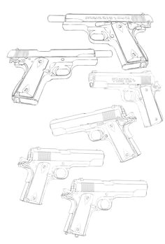armes a feu guns a melyk concept weapons hand guns how to draw