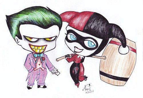 joker and harley quinn drawing 3 drawing cartoon and joker