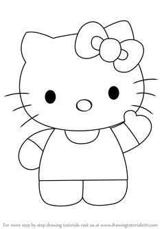 how to draw hello kitty drawingtutorials101 com hello kitty drawing hello kitty art
