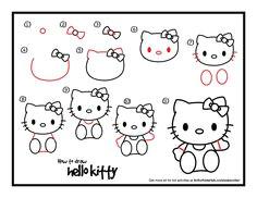 how to draw hello kitty hello kitty art hello kitty birthday easy drawings