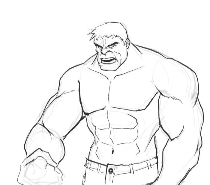Easy Drawings Hulk Hulk Ausmalbilder Einfach 1103 Malvorlage Hulk Ausmalbilder