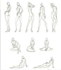 cuerpo body sketches must practise these basic croquis
