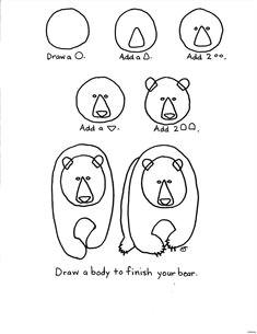 bear drawing drawing birds drawing lessons art lessons bear art art