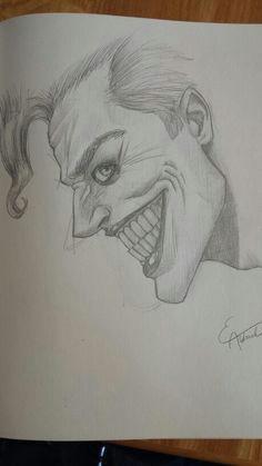 the joker drawing by me www everettaldrich com batman drawing comic