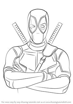 learn how to draw deadpool deadpool step by step drawing tutorials marvel zeichnungen