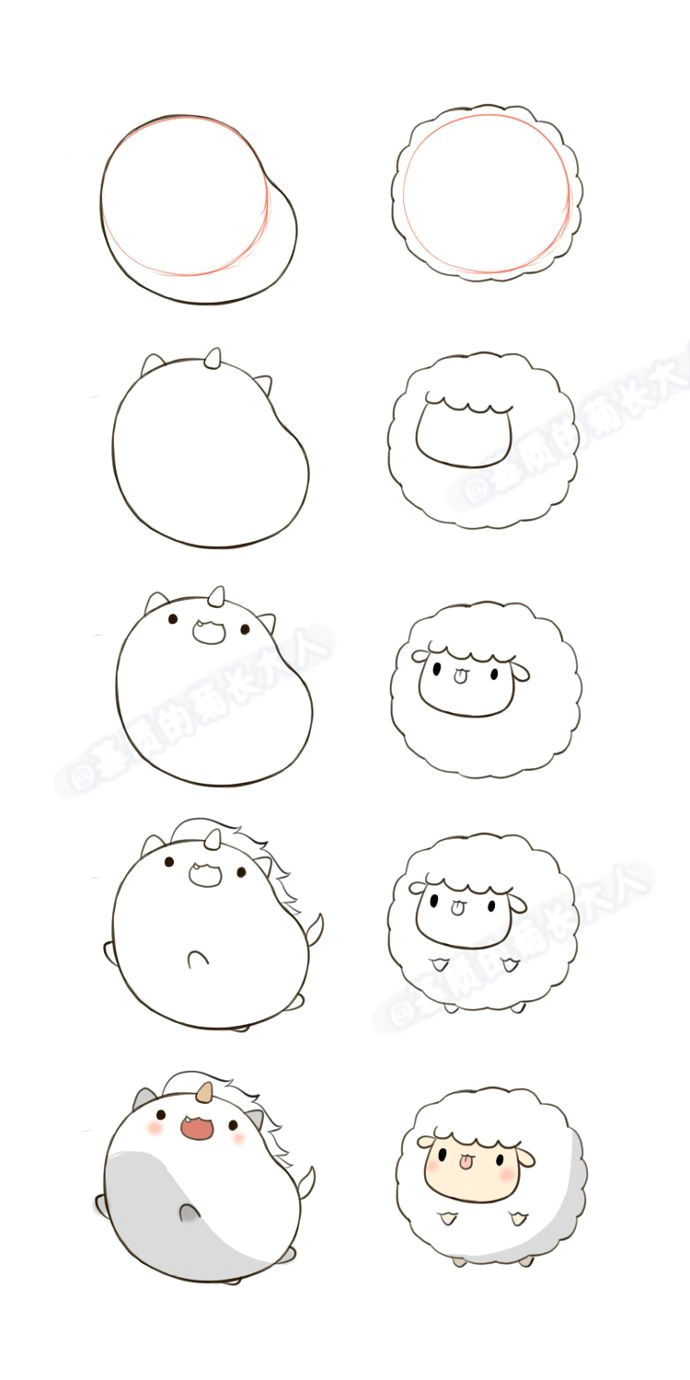 Easy Drawings Kawaii Animals Image Result for Cute Kawaii Christmas Animals Art Diy Pinterest