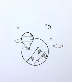 imagen de art and tattoo cute drawings simple drawings ink drawings hot air