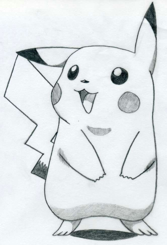 easy pictures to draw how to draw pikachu