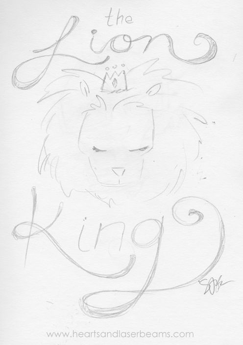 drawing ideas and creativity exercises with the disney classics the lion king sketch by hearts and laserbeams loving the hand drawn font