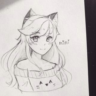 my oc mimi kawaii oc manga anime art ocs traditional neko