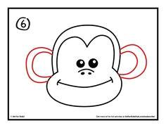 how to draw a monkey art for kids hub monkey drawing easymonkey