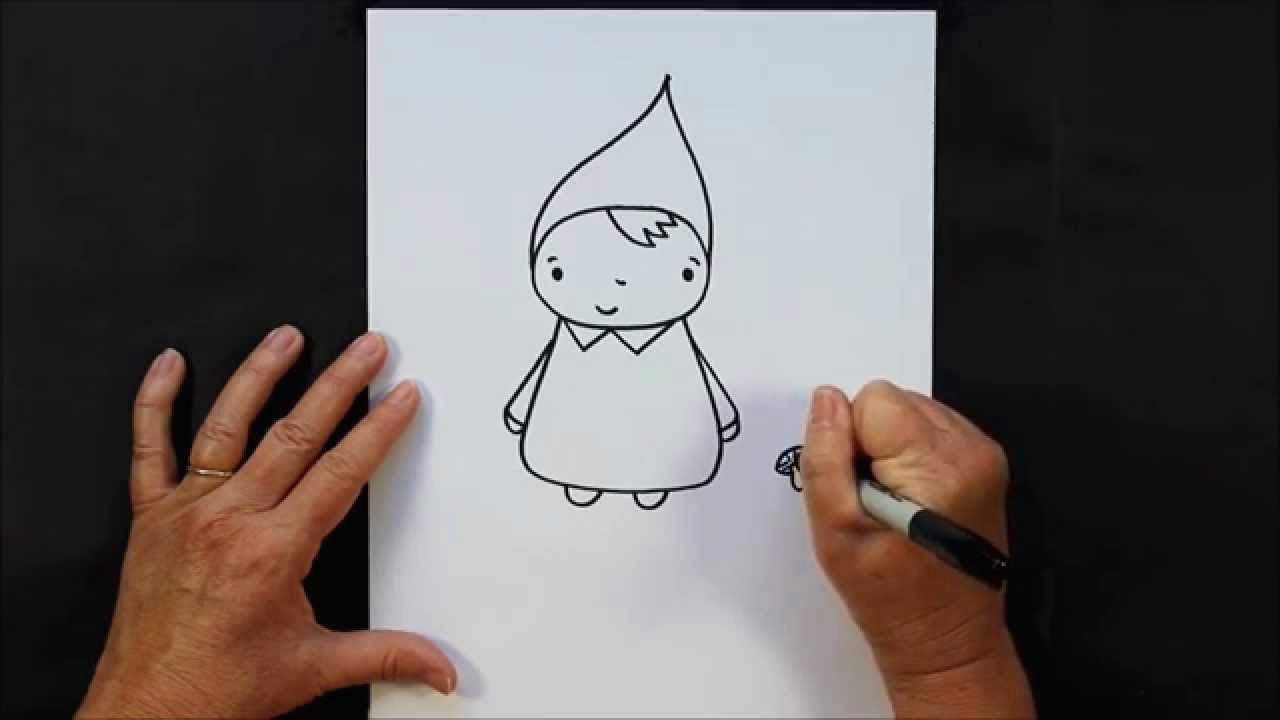 how to draw a garden gnome step by step easy drawing tutorial