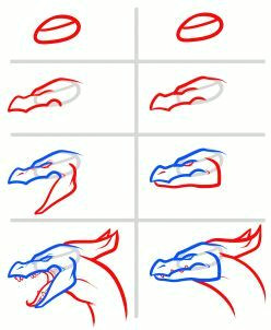 how to draw a fire breathing dragon dragons breathing fire step by step dragons draw a dragon fantasy free online drawing tutorial added by dawn