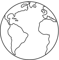 planet earth line art
