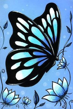 easy acrylic painting on canvas painting was made with acrylic paints on drawings of butterflieseasy drawings of flowerseasy