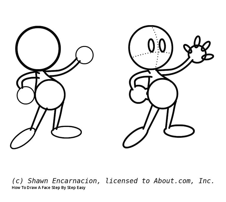 how to draw a face step by step easy learn how to draw cute cartoon characters