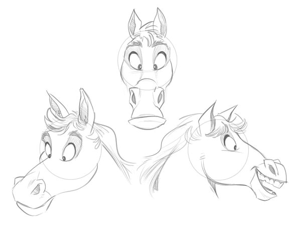 Easy Drawings Of Horses I Want to Try Drawing This Looks Fairly Easy and Cute Cartoon