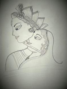 radha krishna sketch by purvi patel