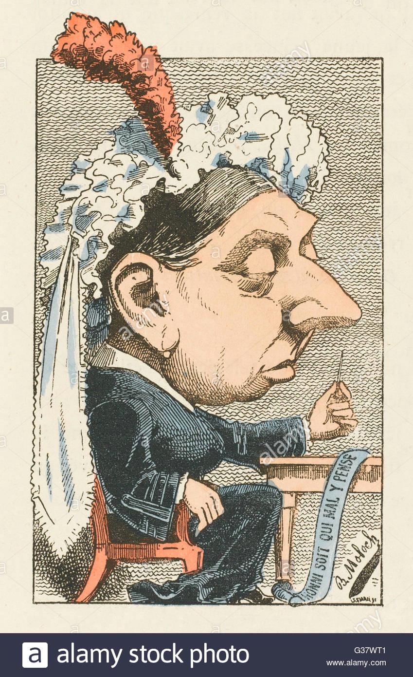 queen victoria cartoon date 1819 1901 stock image