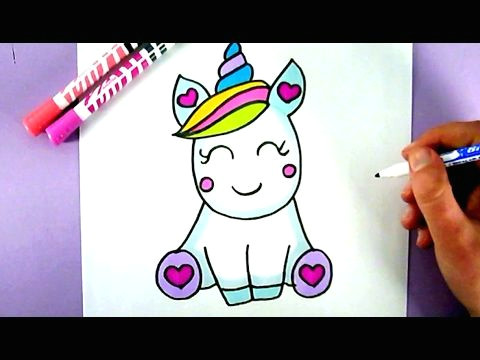 how to draw a super cute and easy unicorn