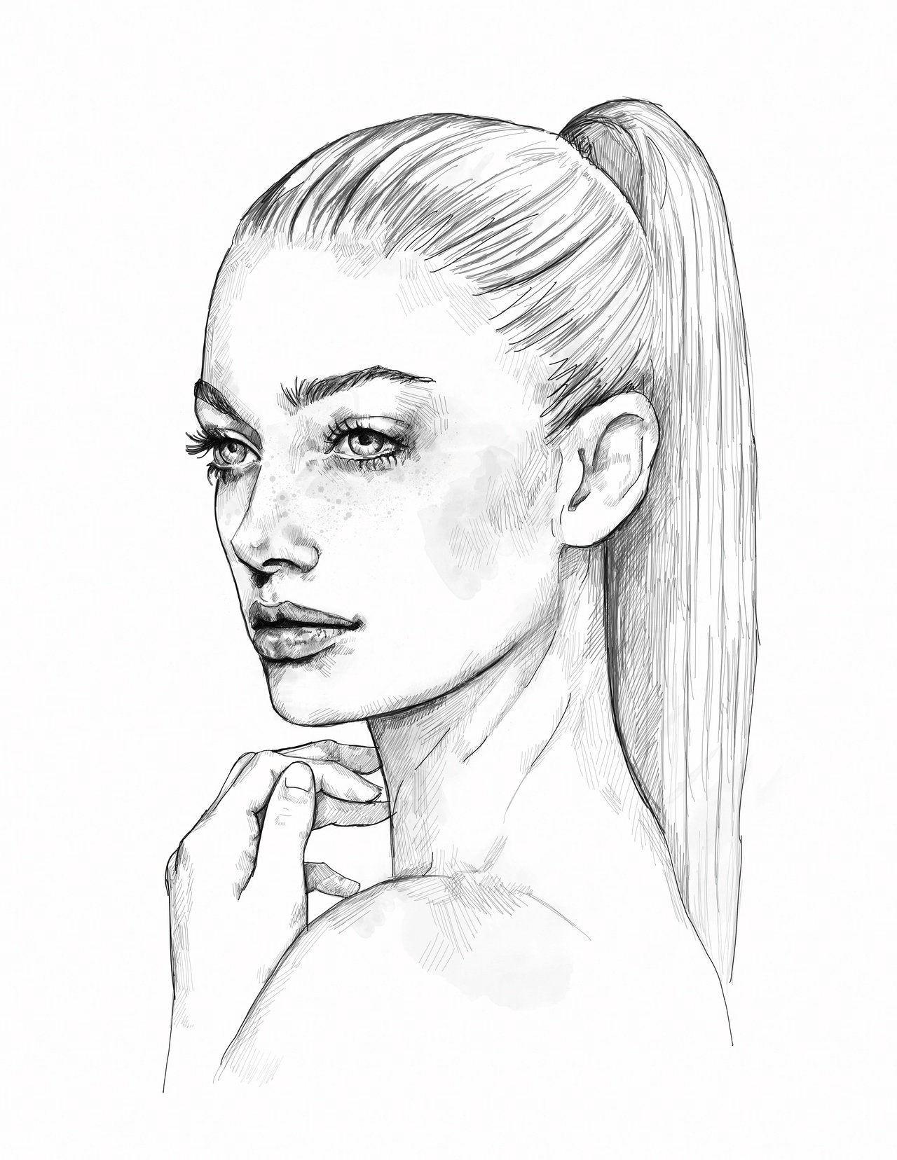 easy pencil drawings of faces a a aa arte de katie jagielnicka art portraiture