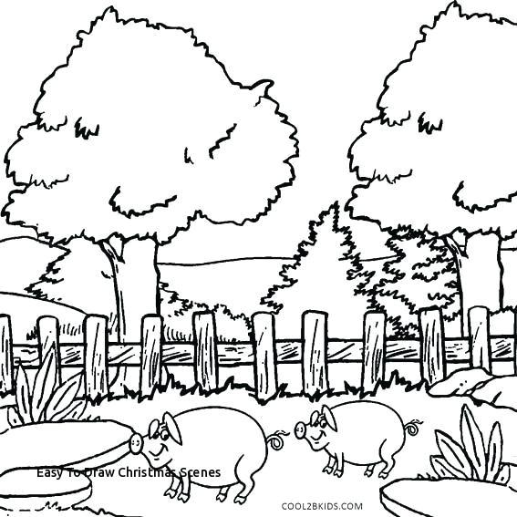 easy to draw christmas scenes nature scenes drawing at getdrawings of easy to draw christmas scenes