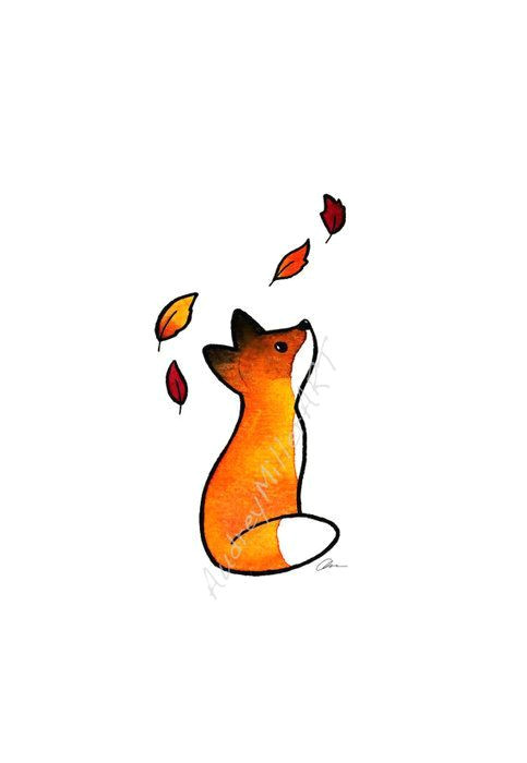 simple fox drawing google search