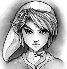 how to draw link easy step by step video game characters pop culture