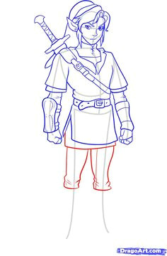 how to draw link from zelda daisy drawing zelda drawing art