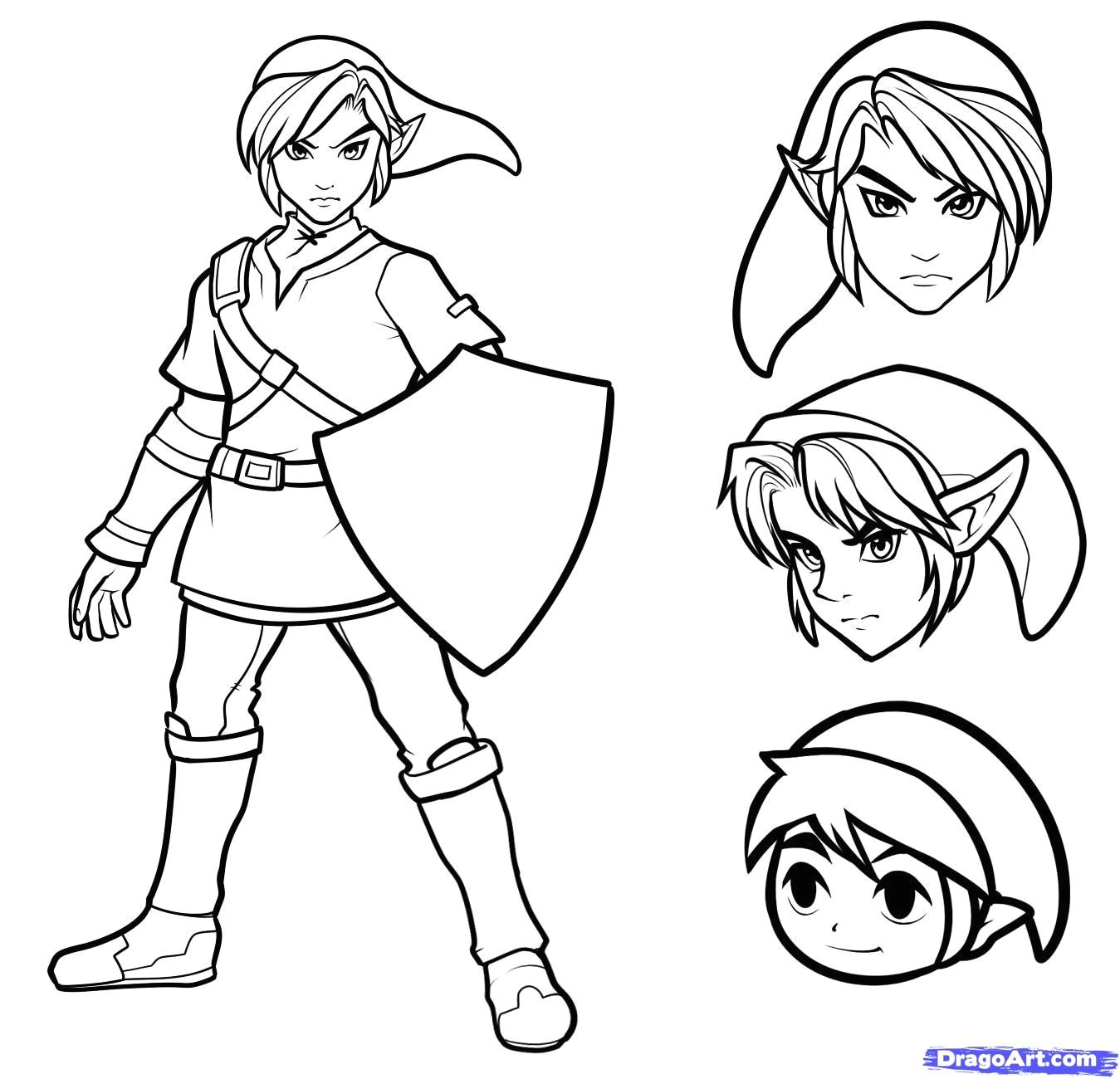 how to draw link easy step 9