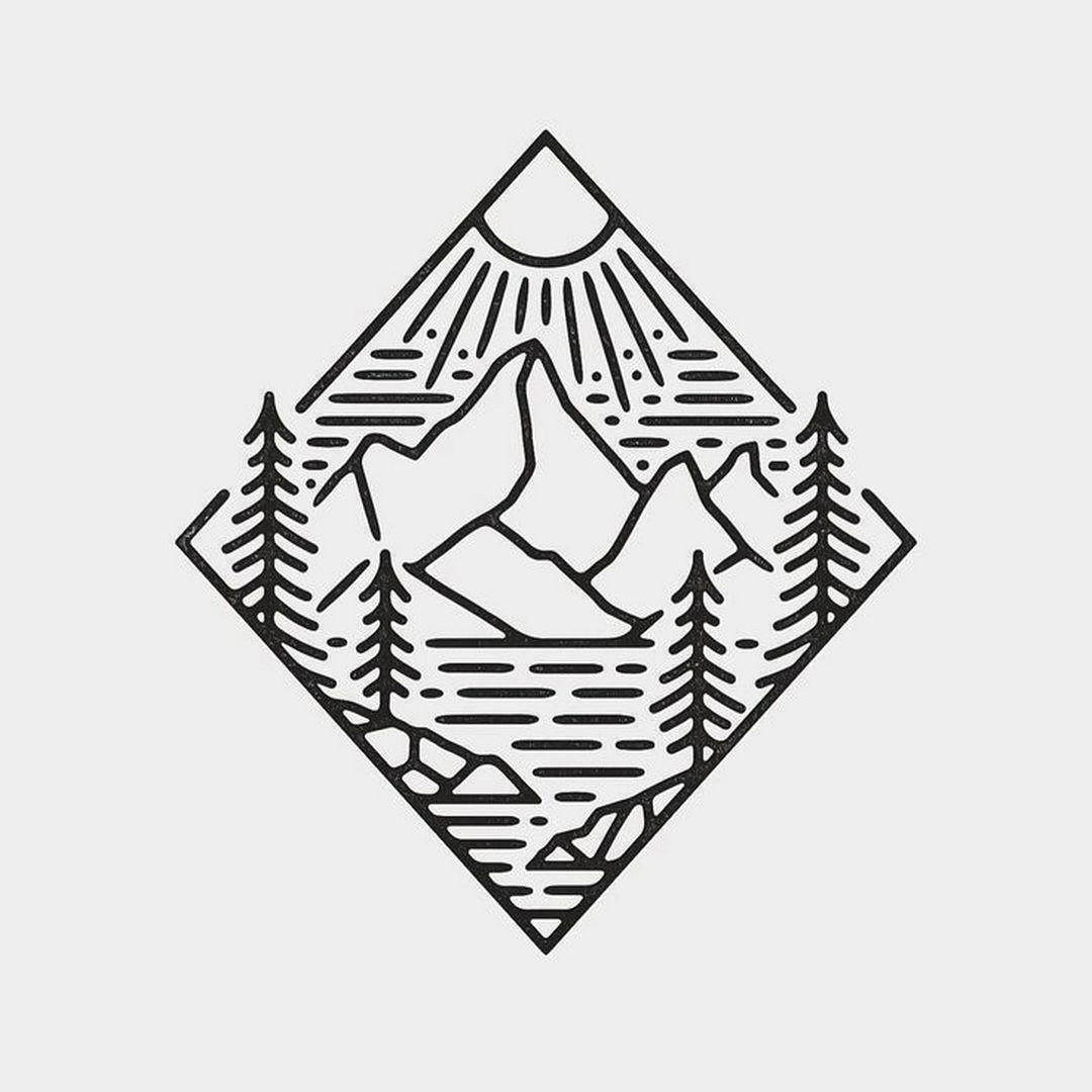 fantastic nature logo design inspiration 99 easy drawings cool simple drawings art