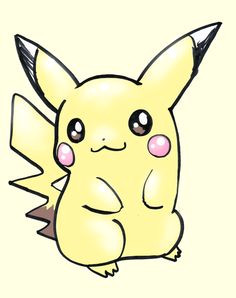 pokemon characters draw pikachu easy another very popular face going up right now is