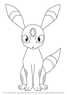 learn how to draw umbreon from pokemon pokemon step by step