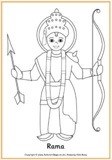 Easy Drawings Related to Diwali Rama Colouring Page Diwali Diwali Story Diwali Diwali Craft