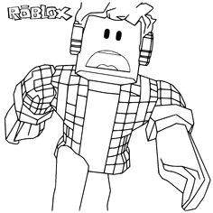 fun for kids coloring page roblox