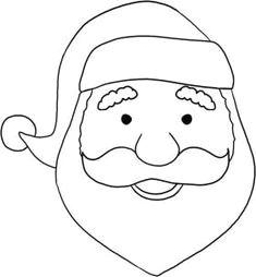 how to paint a easy santa face on decor